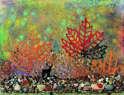 Ladybug Mixed Media - Enchanted Pathways by Donna Blackhall
