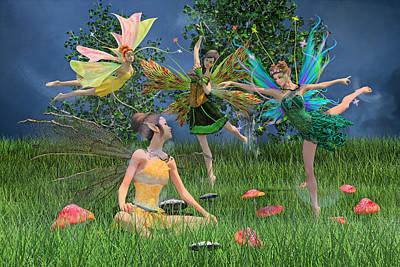 Mushroom Digital Art - Enchanting Souls by Betsy Knapp