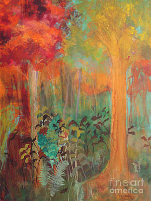 Painting - Enchantment In Autumn by Robin Maria Pedrero