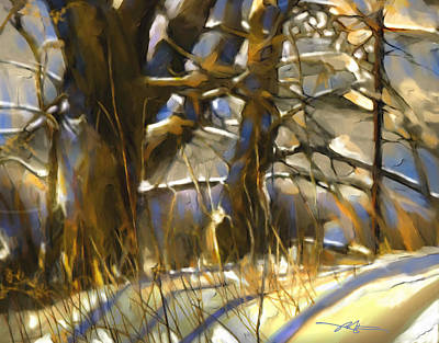 End Of A Winter's Day Print by Bob Salo