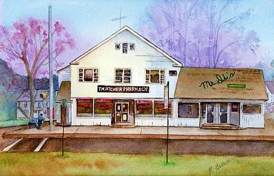 Pharmacy Painting - End Of An Era by Katherine  Berlin