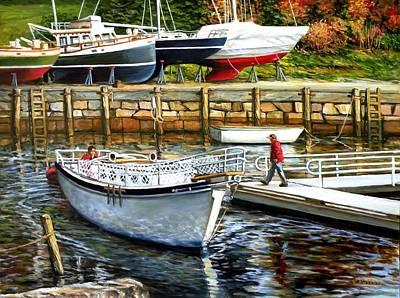 End Of Season Rockport Maine Original by Eileen Patten Oliver