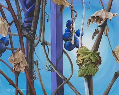 Vines Painting - End Of Season by Wendy Ballentyne