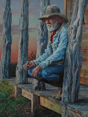 Ranchers Painting - End Of The Day by Jim Clements