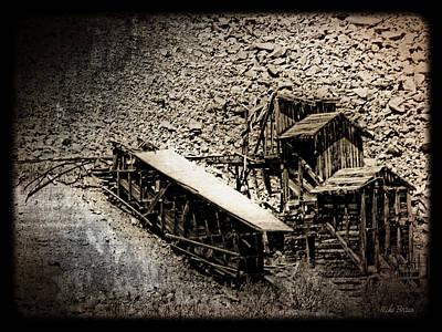 Bleak Desert Digital Art - End Of The Line Mine by Mike Braun