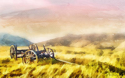 Pioneers Painting - Enduring Courage by Greg Collins