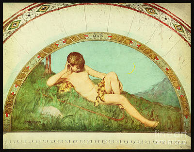 Library Painting - Endymion Library Of Congress 1901 by Celestial Images