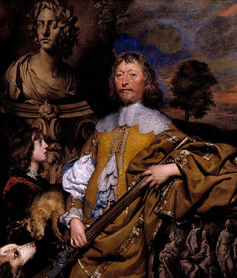 Statue Portrait Painting - Endymion Porter by William Dobson