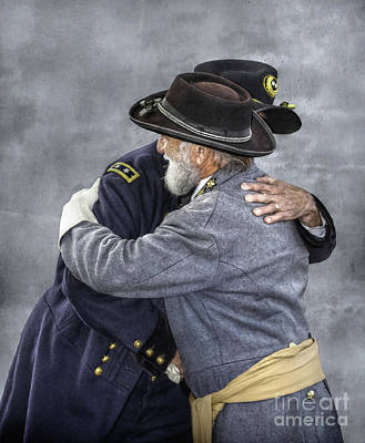 Enemies No Longer Civil War Grant And Lee Print by Randy Steele