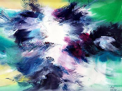 Abstract Beach Landscape Drawing - Energy by Anil Nene