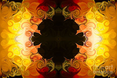 Energy Attractions  Abstract Organic Bliss Artwork Print by Omaste Witkowski