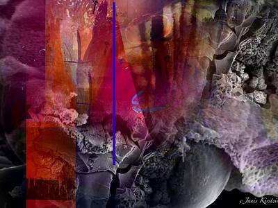 Energy Fields 3 Print by Janis Kirstein