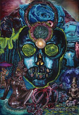 Inner Light Painting - Energy Self Portrait by Emily McLaughlin