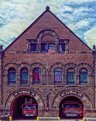 Engine House Photograph - Engine 33 - Boston by Mountain Dreams
