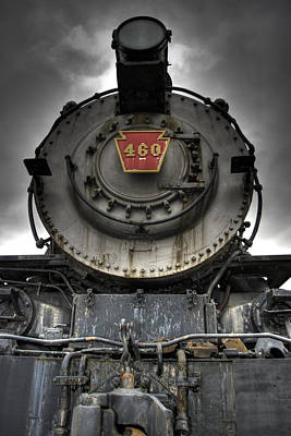 Locomotive Photograph - Engine 460 Front And Center by Scott  Wyatt