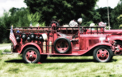 Old Firetrucks Photograph - Engines Of Fire by Steven Digman