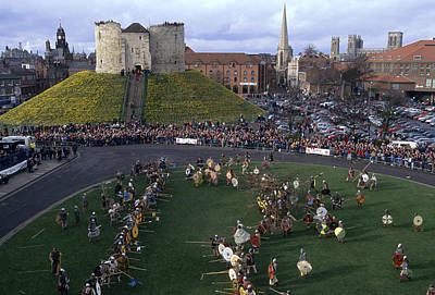 Historical Reenactments Photograph - England, York Reenactment Of The Battle by Keenpress