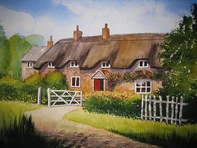English Cottage Original by Shirley Braithwaite Hunt
