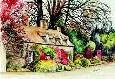 English Country Cottage Original by Morgan Fitzsimons