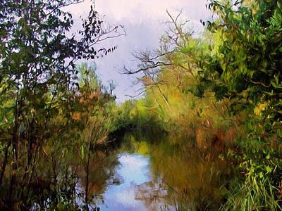 Waterscape Mixed Media - English Country Garden by Georgiana Romanovna