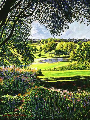 English Country Pond Print by David Lloyd Glover