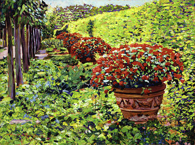 Most Popular Painting - English Flower Pots by David Lloyd Glover