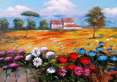 Tuscan Sunset Painting - Enjoy And Colors Tuscany Landscape 03 by Luigi Conte