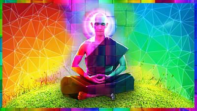 Enlightened Nirvana Print by AJ Fortuna