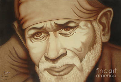 Baba Painting - Enlightenment by Saba Aghajan