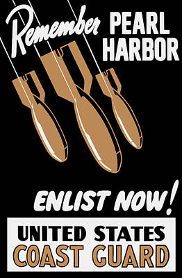 Enlist Now - United States Coast Guard Print by War Is Hell Store