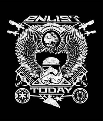 Stormtrooper Digital Art - Enlist Today by Little Black Heart