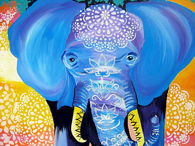 Elephant Drawing - Enormous Joy by Cathy Jacobs