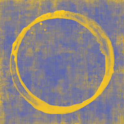 Abstracted Digital Art - Enso 1 by Julie Niemela