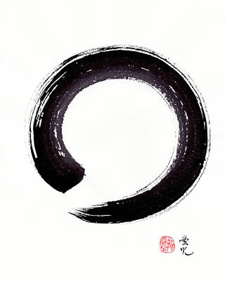 Japanese Painting - Enso - Embracing Imperfection by Oiyee At Oystudio
