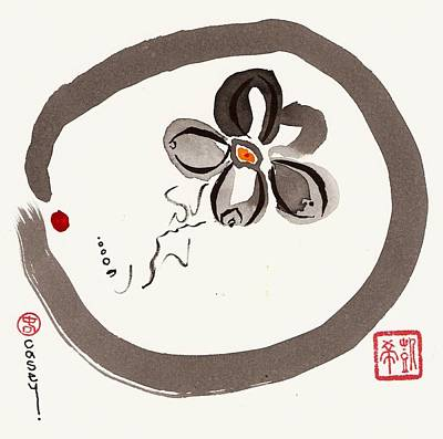 Sumi Painting - Enso Aven by Casey Shannon