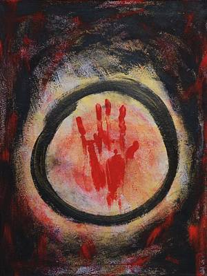 Enso Painting - Enso - Confine by Marianna Mills