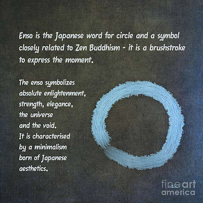 Meanings Digital Art - Enso Meaning by Jutta Maria Pusl