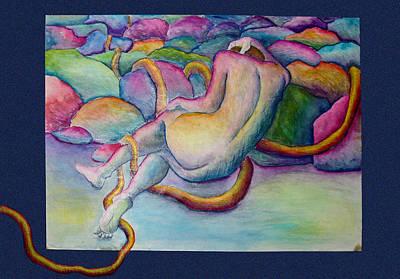 Entangled Figure With Rocks Print by Nancy Mueller