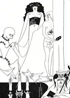 Enter Herodias Print by Aubrey Beardsley