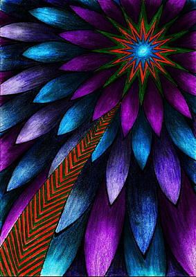 Visionary Art Drawing - Entering by Jelena Milanovic
