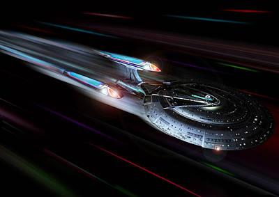 Enterprise Digital Art - Enterprise E At Warp by Joseph Soiza