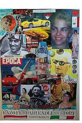 Epoca 1959 Mixed Media - Enzo Ferrary Endless Story by Francesco Martin