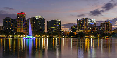 Orlando Photograph - Eola Evening by Mike Lang