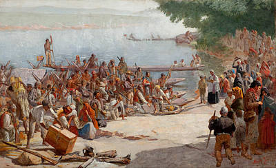 Landscape Painting - departure of the Moncao by Almeida Junior