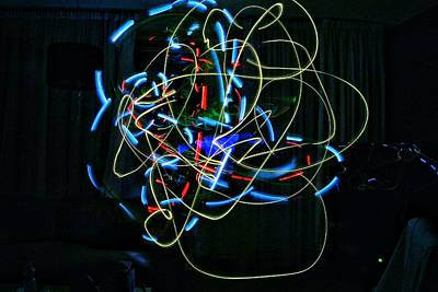 Abstract Digital Art - Epic Abstract Glowsticks by Marco De Mooy
