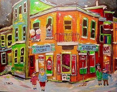 Kik Cola Painting -  Epicerie Hoare Montreal Corner Store by Michael Litvack