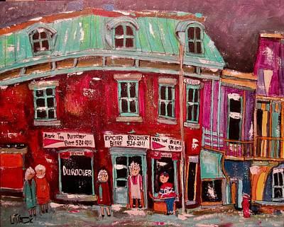 Painting - Epicier Durocher Logan by Michael Litvack