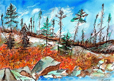 Quebec Painting - Epinettes Noires Northern Quebec by Ion Danu