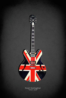 Guitar Photograph - Epiphone Union Jack by Mark Rogan