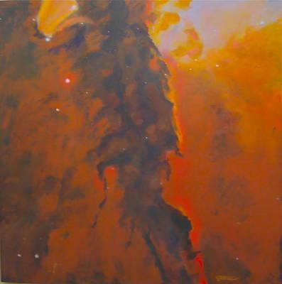 Soaring Painting - Epsilon Eridani A Stellar Spire In Eagle Nebula by Jim Ellis